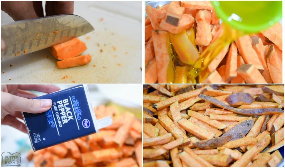 how to make Easy Baked Sweet Potato Fries recipe