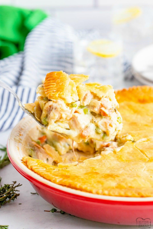 Leftover turkey pot pie recipe