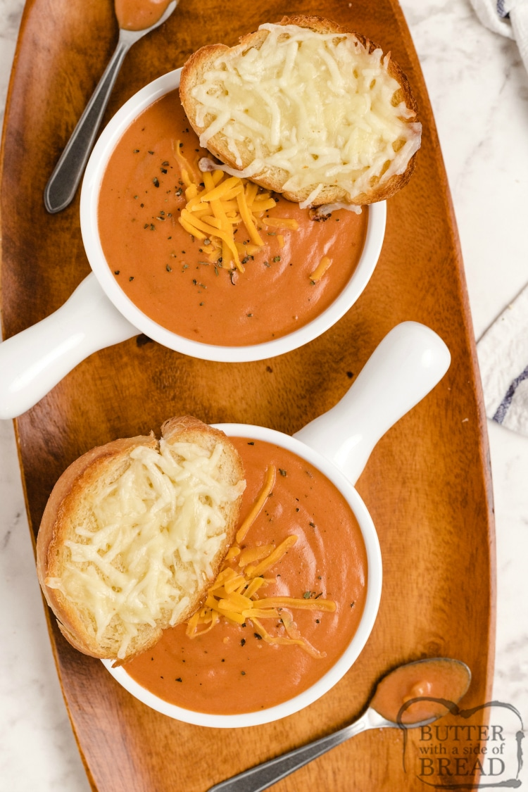 Cheesy tomato soup recipe