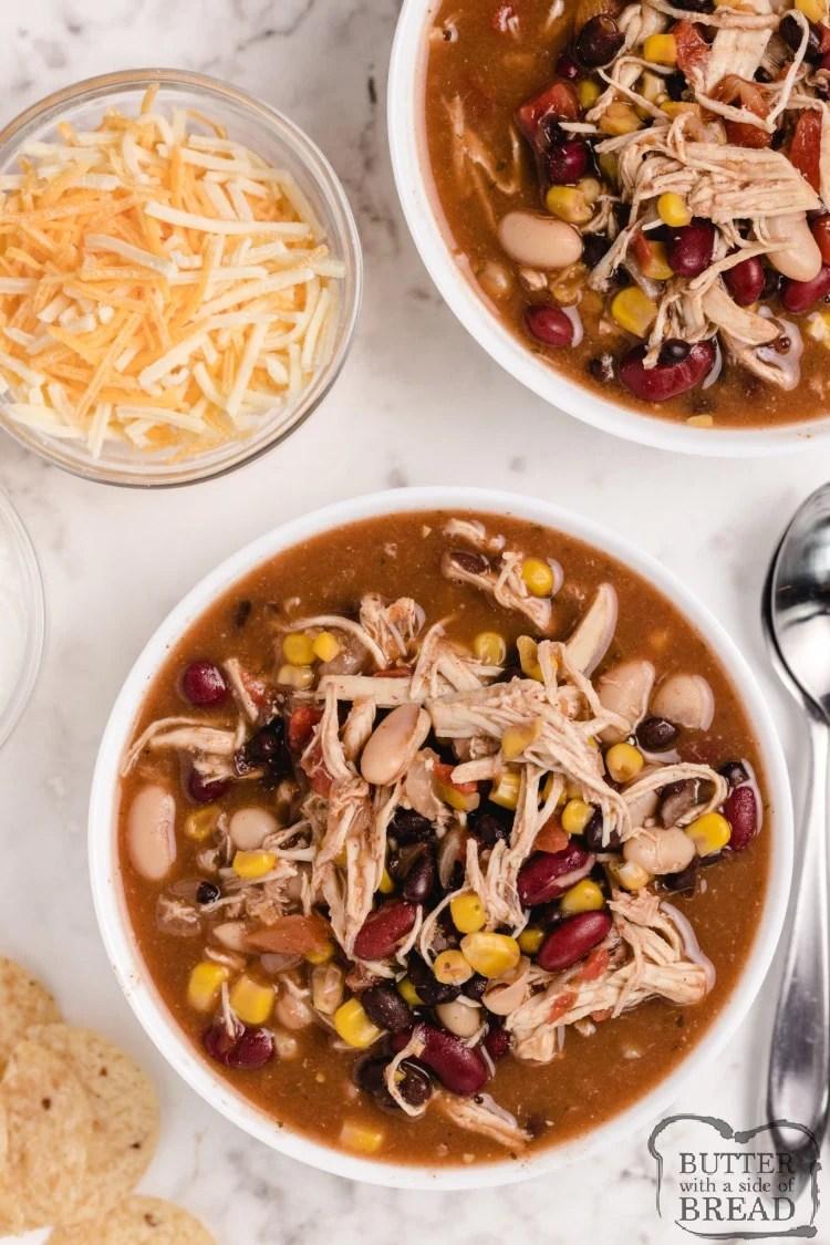 Crockpot chicken taco soup recipe