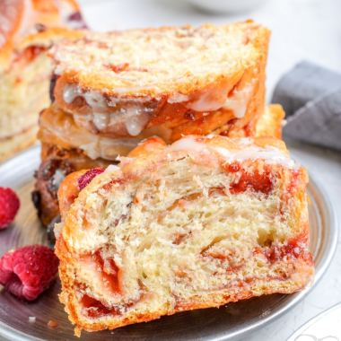 Homemade Raspberry Twist Bread recipe