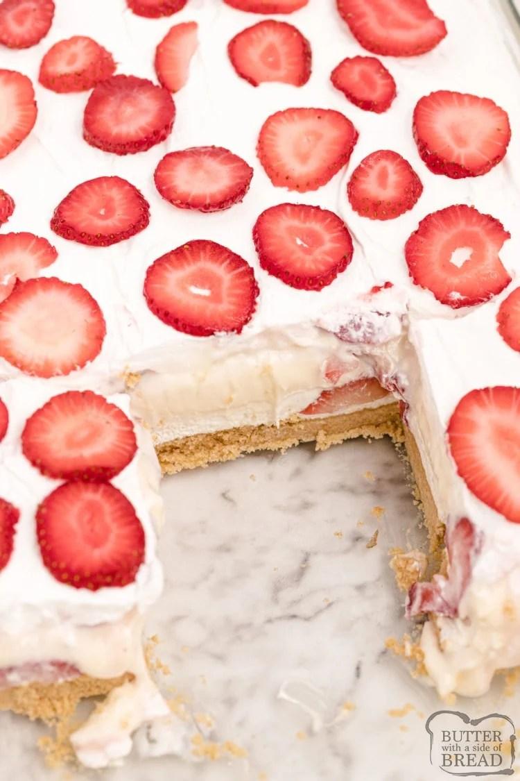 No bake strawberry layered dessert recipe