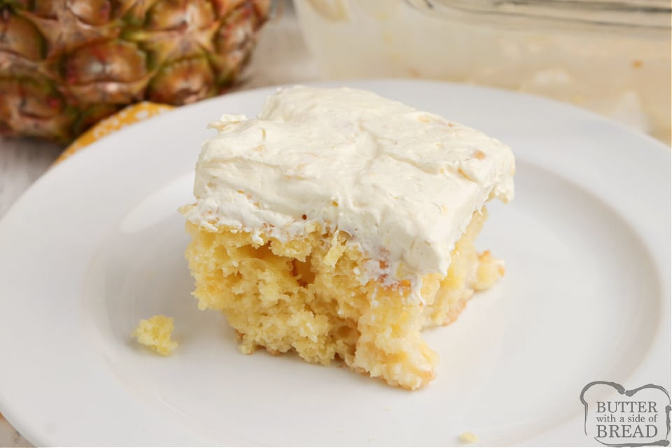 Yellow cake mix with pina colada mix