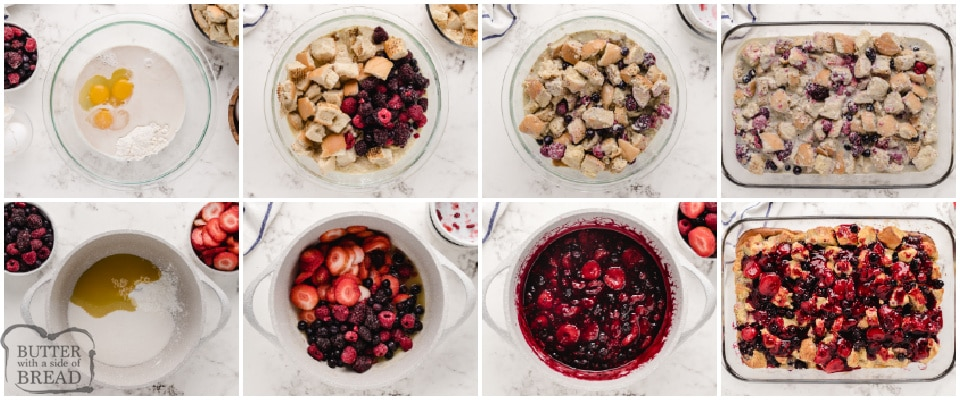 Step by step instructions on how to make baked french toast casserole