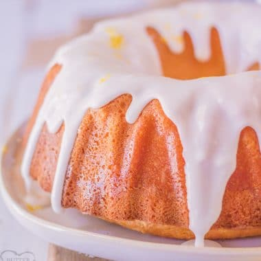 7 Up Pound Cake with a light lemon icing