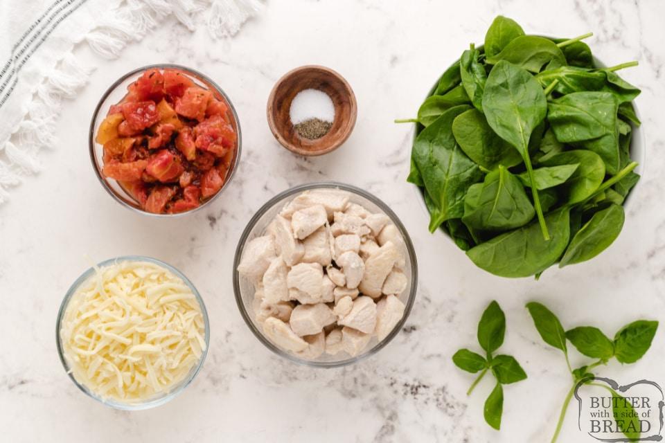 Ingredients in Italian Chicken Skillet