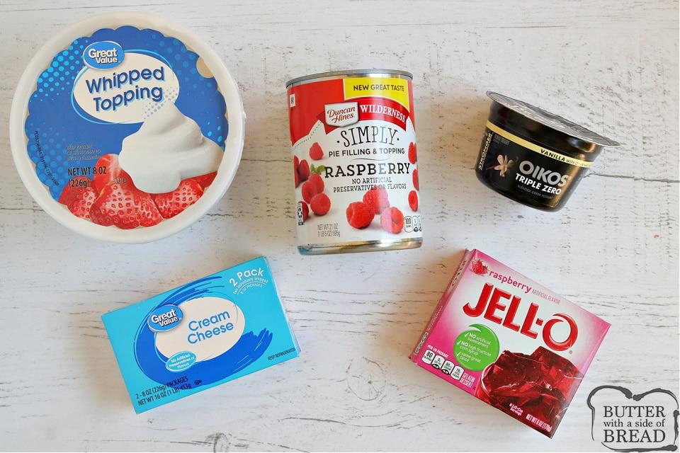Ingredients in Raspberry Cheesecake Jello