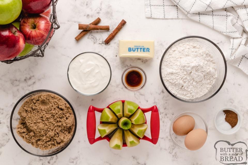 Ingredients in Sour Cream Apple Pie Bars