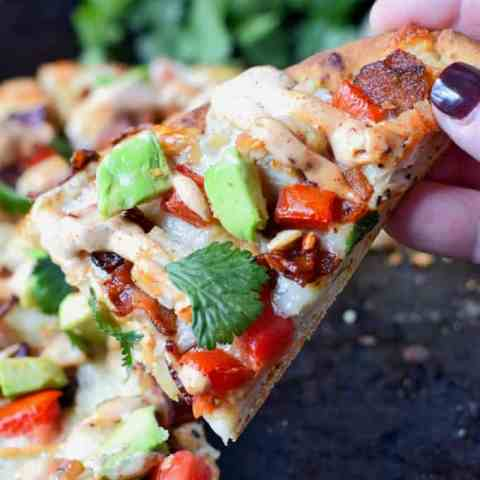 Chicken Club Flatbread with Chipotle Ranch