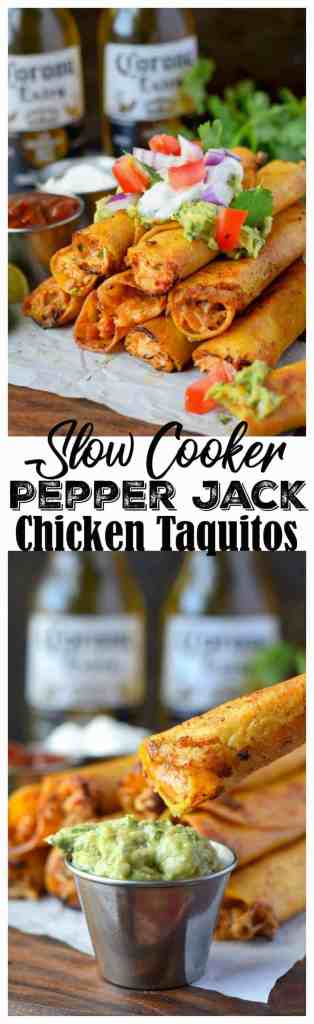 pepper jack chicken taquitos