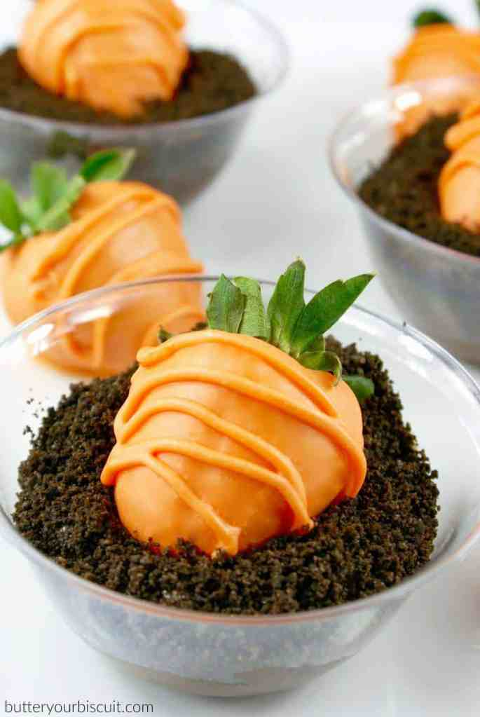 Chocolate Covered Strawberry-Carrots