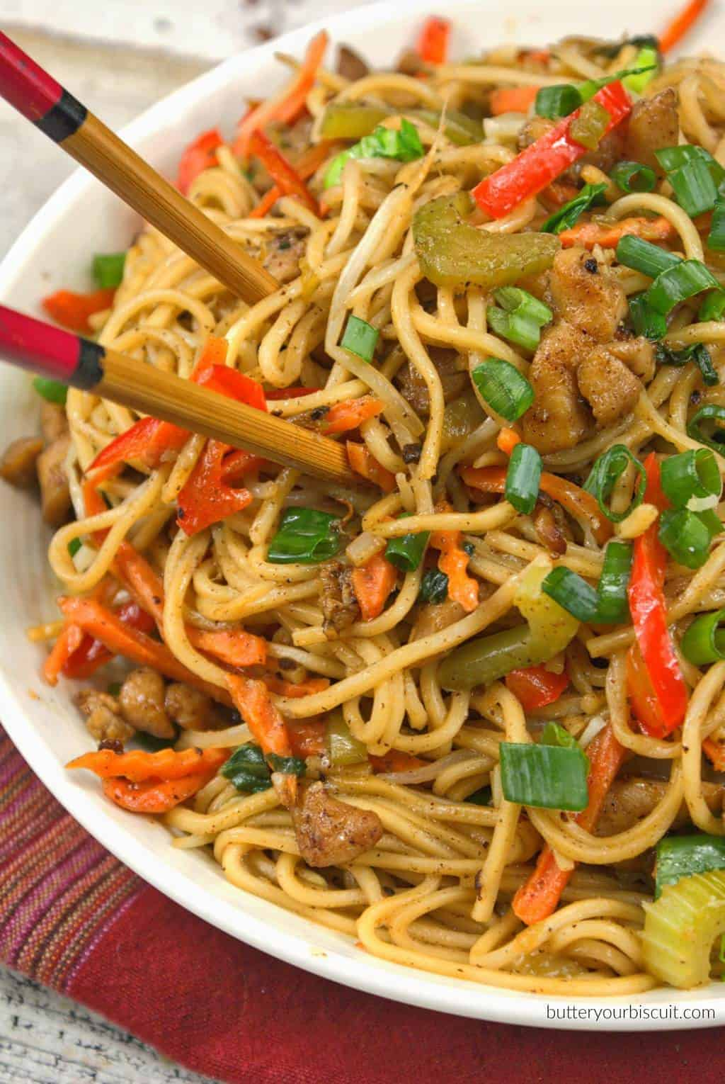 Chicken chow mein butter your biscuit chicken chow mein forumfinder Image collections