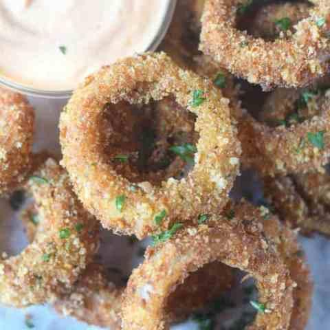 Crispy Parmesan Onion Rings