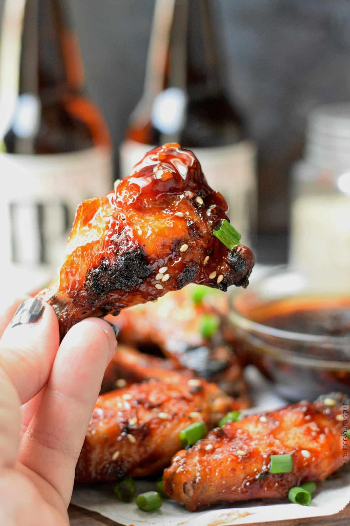Oven Baked Spicy Teriyaki Chicken Wings Butter Your Biscuit