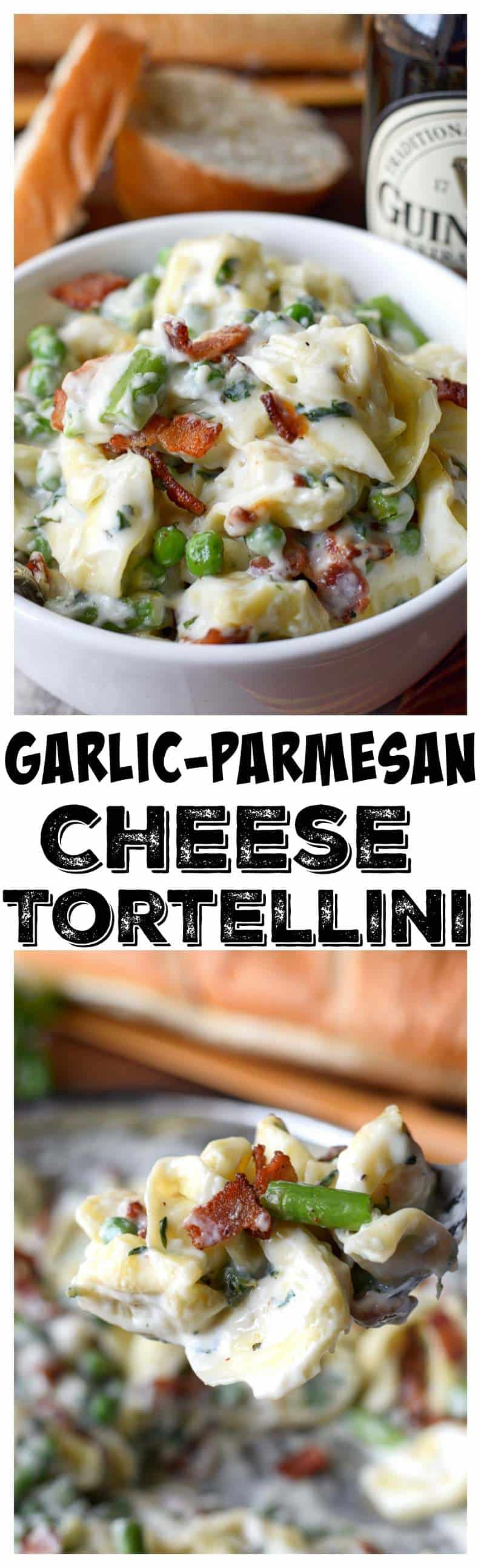 Garlic Parmesan cheese tortellini