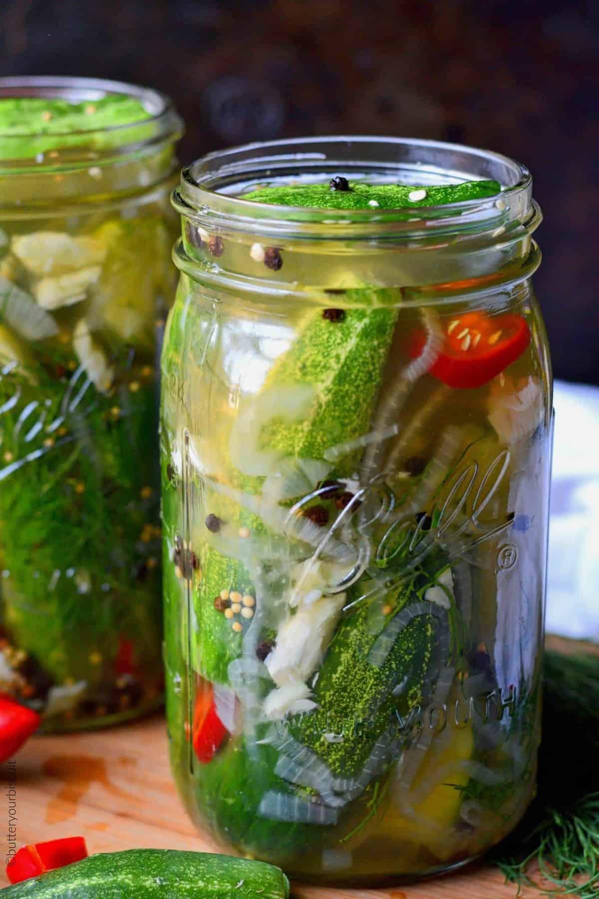 garlic jalapenos dill refrigerator pickles
