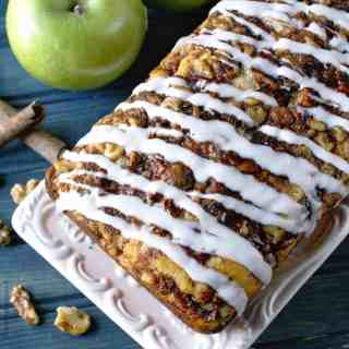 Apple-walnut fritter bread