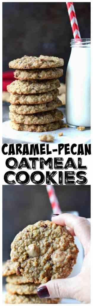 Caramel Pecan Oatmeal cookies