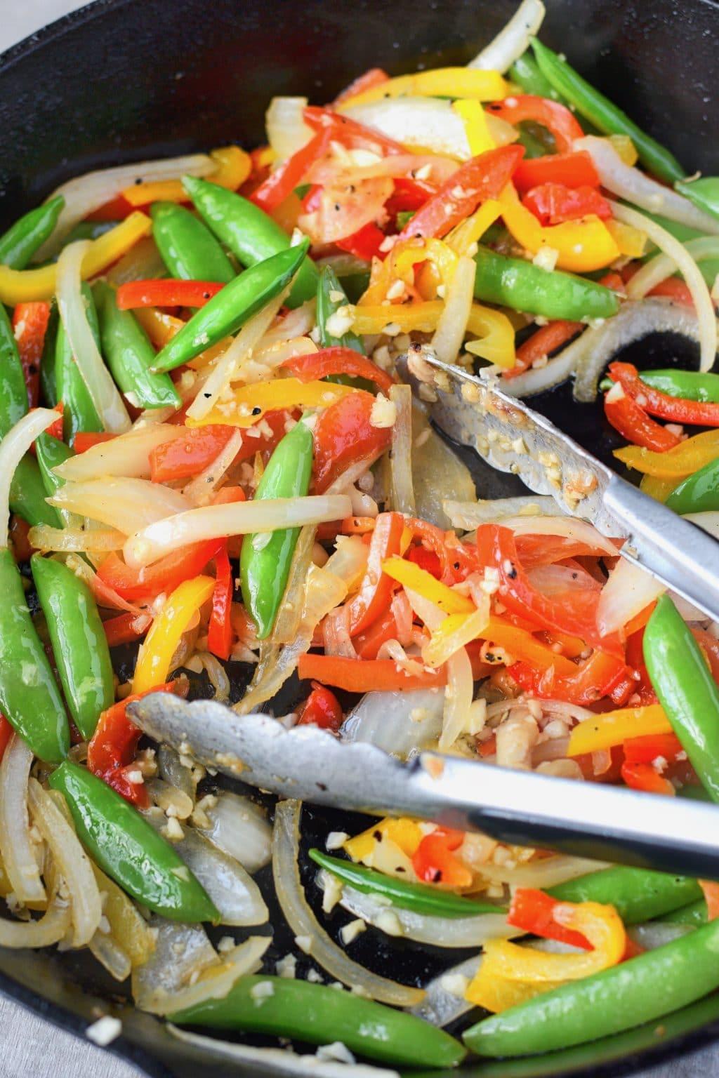 Sweet and Spicy chicken stir fry veggies