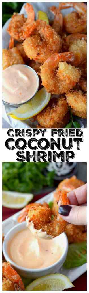 Crispy fried coconut shrimp