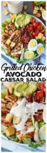 grilled chicken avocado caesar salad