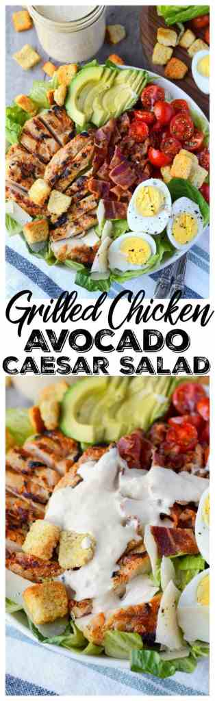 grilled chicken avocado caesar salad