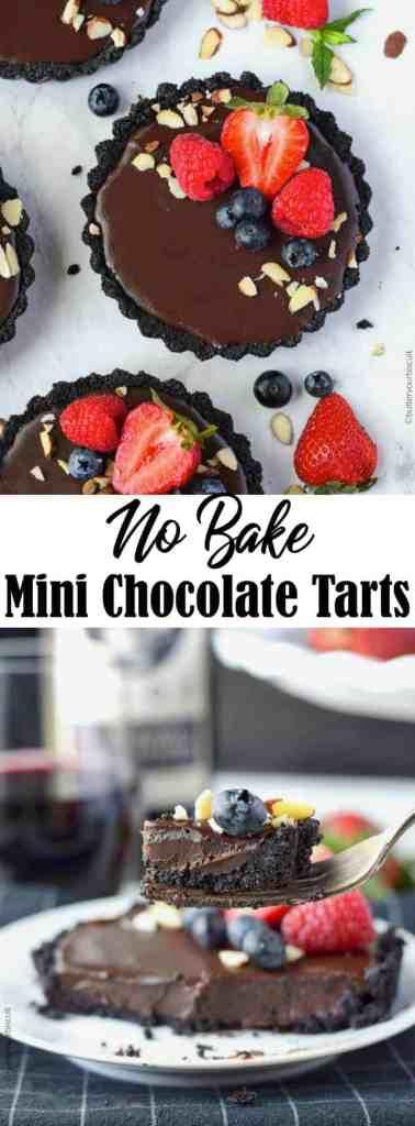 No bake chocolate mini tarts