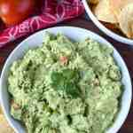 party dips guacamole with tortilla chips