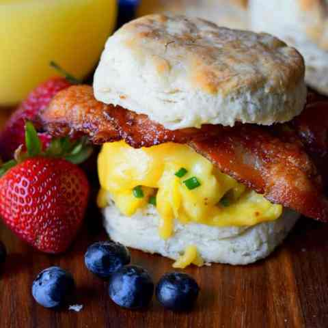 Bacon, Egg and Cheese Biscuit Sandwich