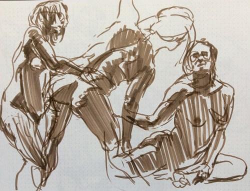 Trio sprints