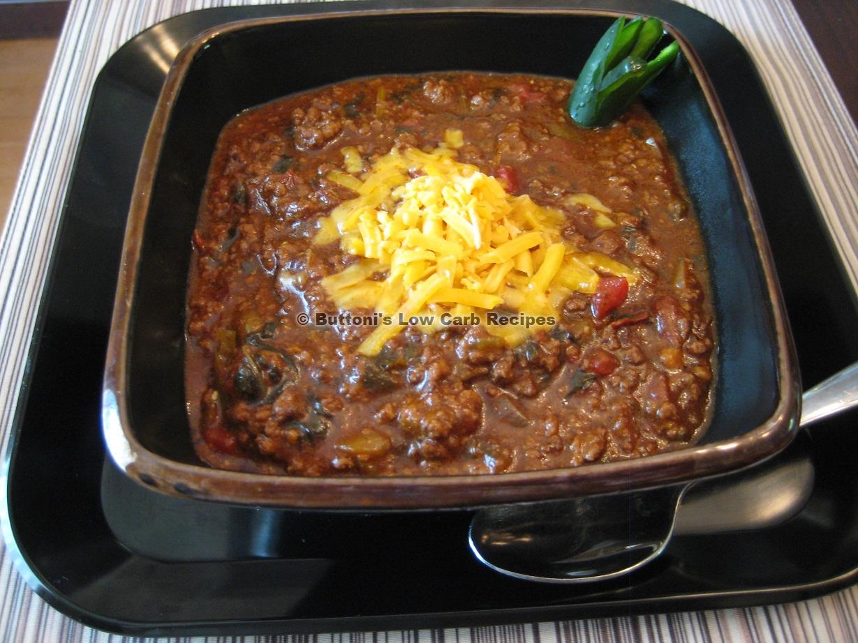 peggys texas chili buttoni39s low carb recipes