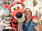 Tigger character encounter at Crystal Palace, Magic Kingdom, Disney World