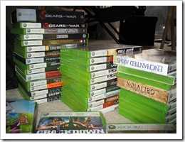 My Xbox 360 circa 03/08; one-half of its current size