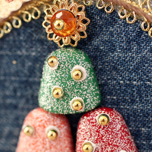 Button Christmas Trees: Gumdrop Button Christmas Tree Ornament
