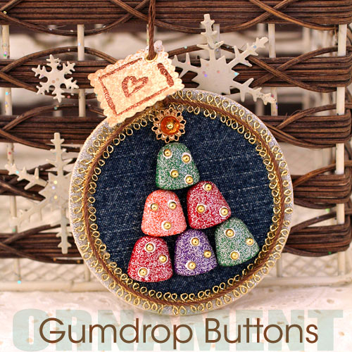 Gumdrop Button Christmas Tree Ornament