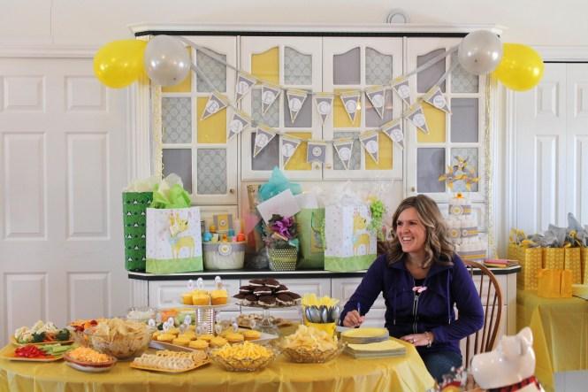 Grey And White Chevron Yellow Paper Garland Birthday Party Decor Baby