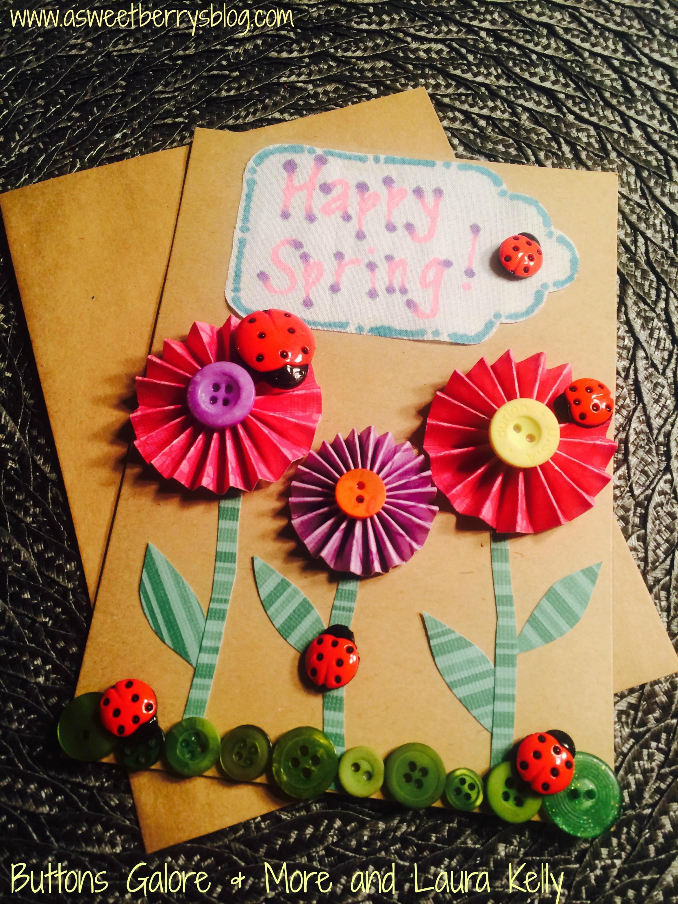 Ladybug Button Card