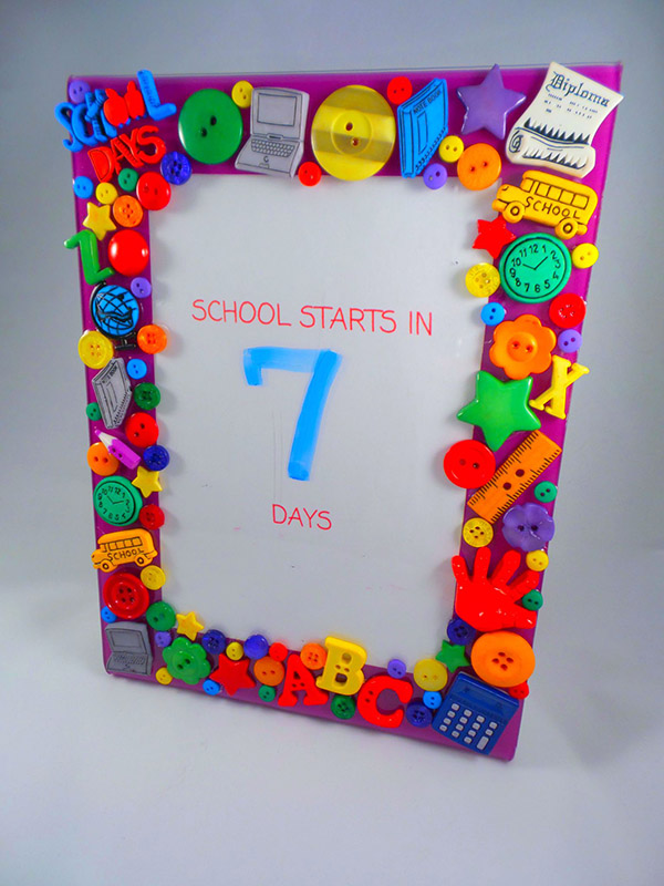 Back to School Photo Frame by Lorrie McCullers - Buttons Galore blog