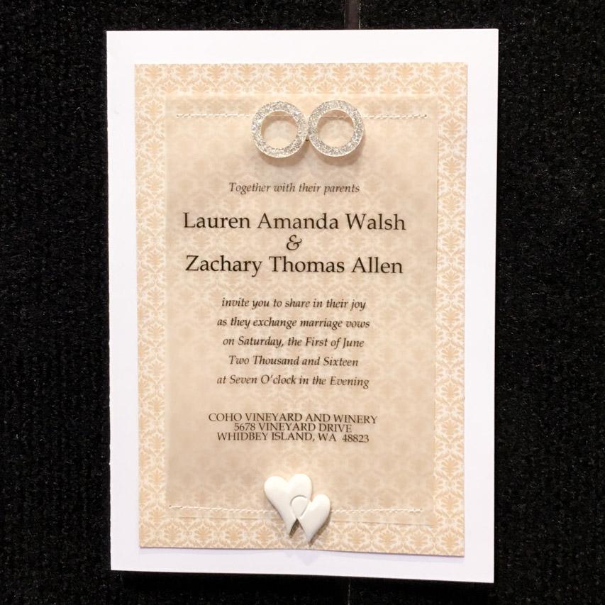 Quick  Easy DIY Wedding Invitation