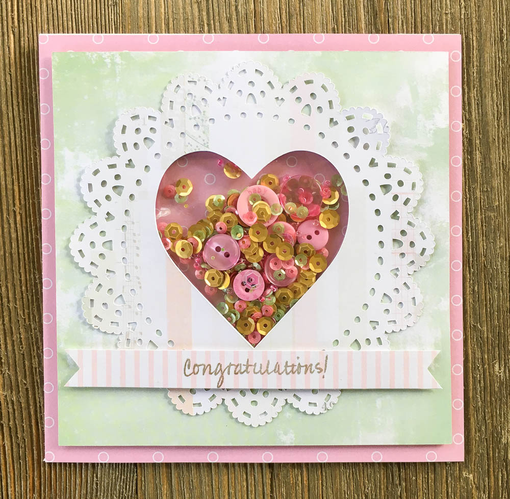 Celebrate True Love With A Wedding Shaker Card