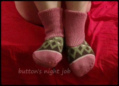 Pink slipper socks