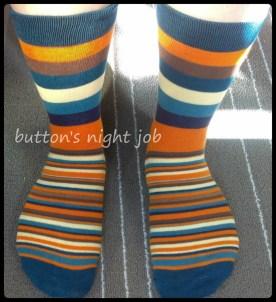 Socks, striped blue toe 2