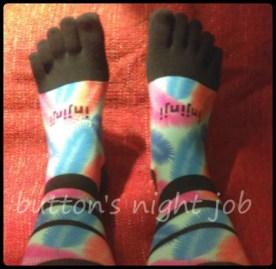 Toe-socks-toe