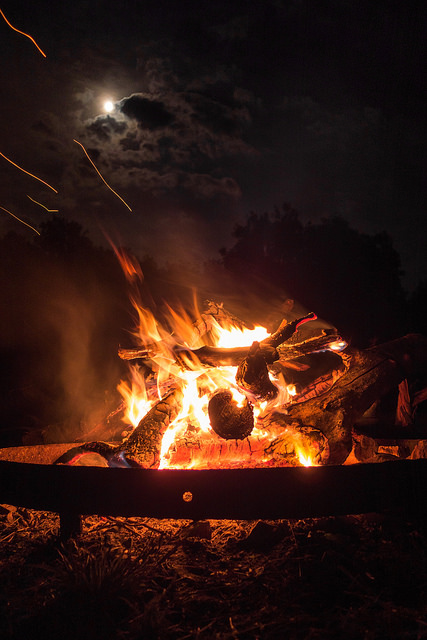 """Moonlit firepit"" image by Flickr user  Martin von Ottersen"