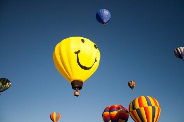 """Mr. Smiley Hot Air Balloon"" image by Flickr user Garrett Heath"