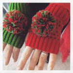 Photo of the Day: Day 8 of the #12daysswap – my mom swiped my pompoms! :D