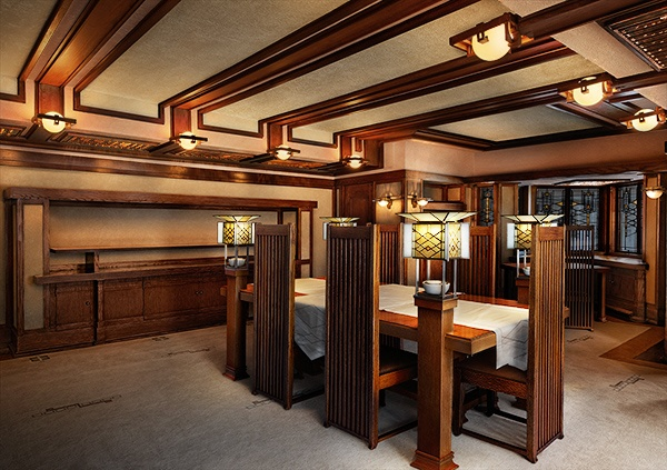 Frank-Lloyd-Wright-Robie-House-Dining-Room