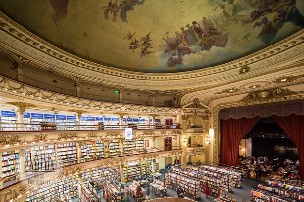 """El Ateneo Bookstore - Buenos Aires"" image by Flickr user Mark A Paulda"