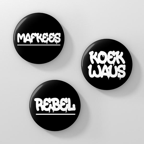 Buttonset Rebel Mafkees Koekwaus