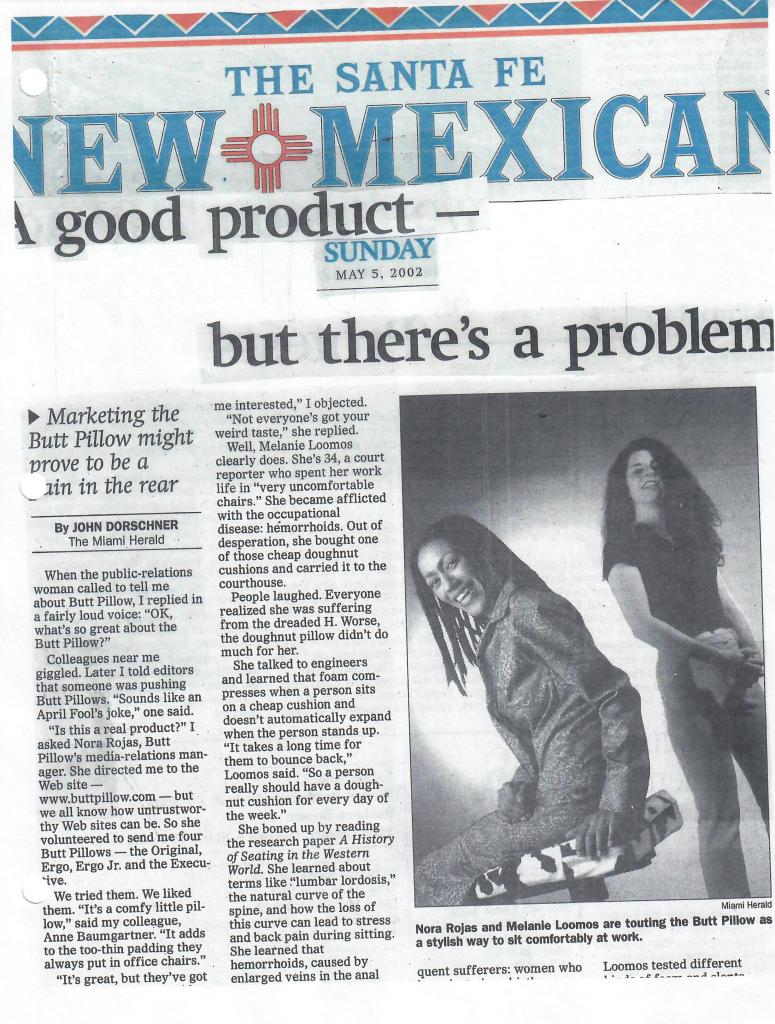 THE SANTA FE New Mexican archive re: The Buttpillow®